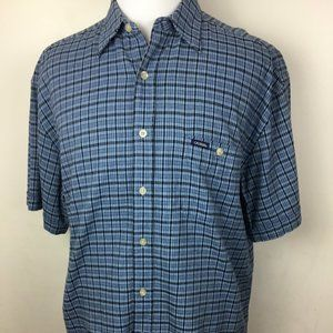 VTG Guess Jeans Blue Short Sleeve Button Down Dwn